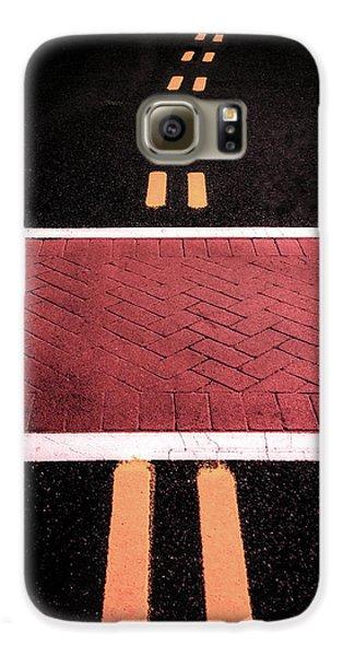 Crosswalk Conversion Of Traffic Lines Galaxy S6 Case