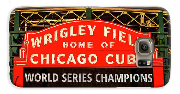 Cubs Win World Series Galaxy S6 Case by Andrew Soundarajan