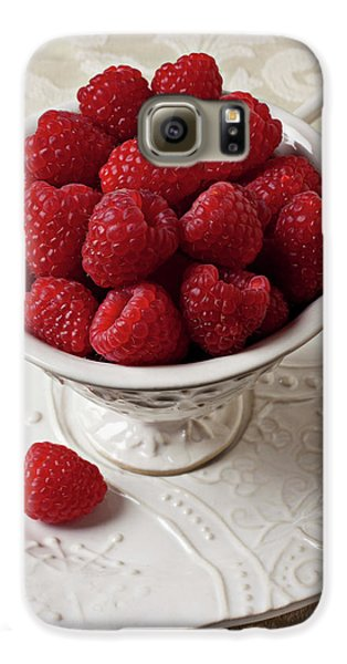 Cup Full Of Raspberries  Galaxy S6 Case by Garry Gay