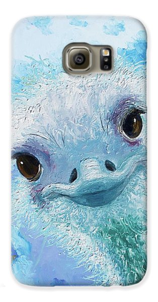 Curious Ostrich Galaxy S6 Case by Jan Matson
