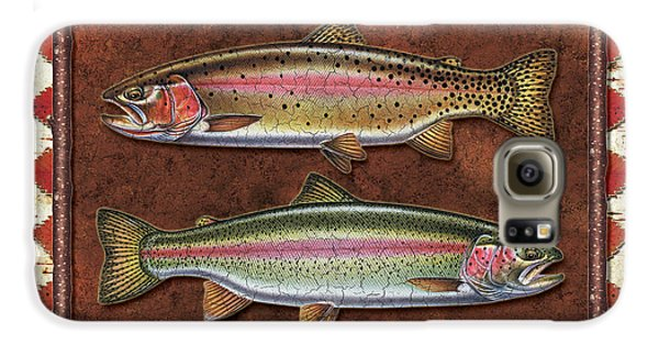Cutthroat And Rainbow Trout Lodge Galaxy S6 Case by JQ Licensing