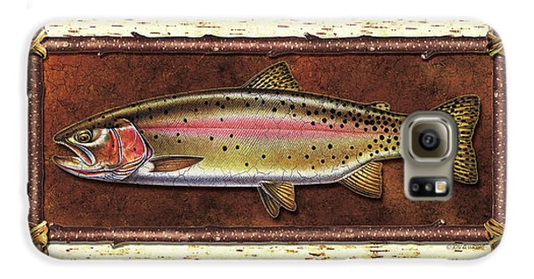 Cutthroat Trout Lodge Galaxy S6 Case by JQ Licensing