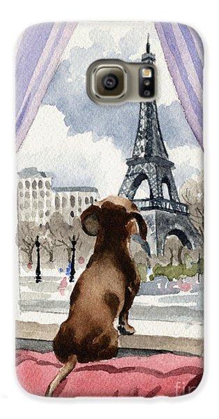 Dachshund In Paris Galaxy S6 Case