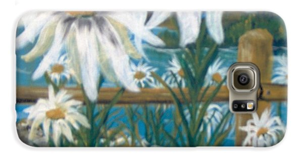 Galaxy S6 Case featuring the painting Daisy Dance by Saundra Johnson