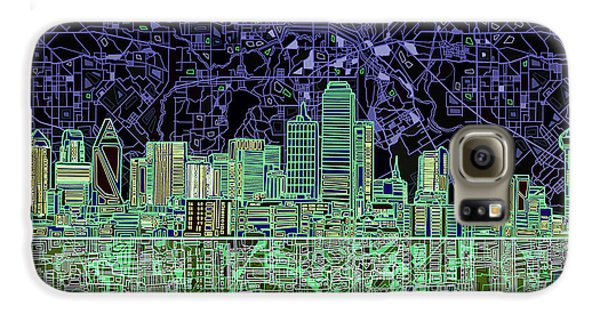 Dallas Skyline Abstract 4 Galaxy S6 Case