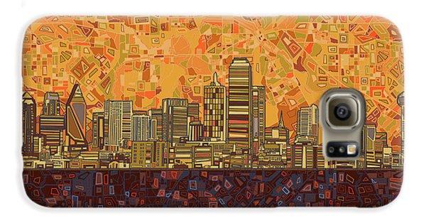 Dallas Skyline Abstract Galaxy S6 Case