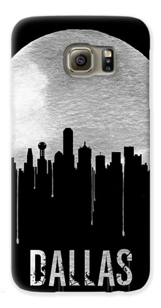 Dallas Skyline Black Galaxy S6 Case by Naxart Studio