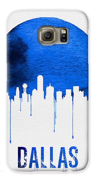Dallas Skyline Blue Galaxy S6 Case by Naxart Studio