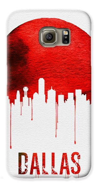 Dallas Skyline Red Galaxy S6 Case by Naxart Studio