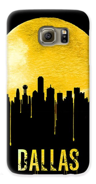 Dallas Skyline Yellow Galaxy S6 Case by Naxart Studio