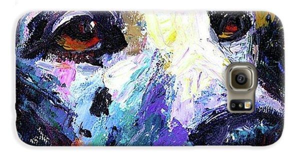 Galaxy S6 Case - Dalmatian Dog Close-up Painting By by Svetlana Novikova