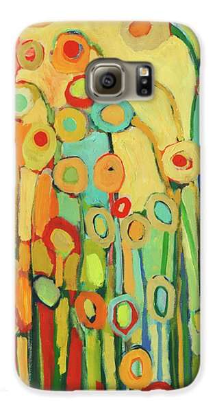 Floral Galaxy S6 Case - Dance Of The Flower Pods by Jennifer Lommers
