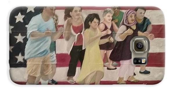 Galaxy S6 Case featuring the painting Dancing Americans by Saundra Johnson