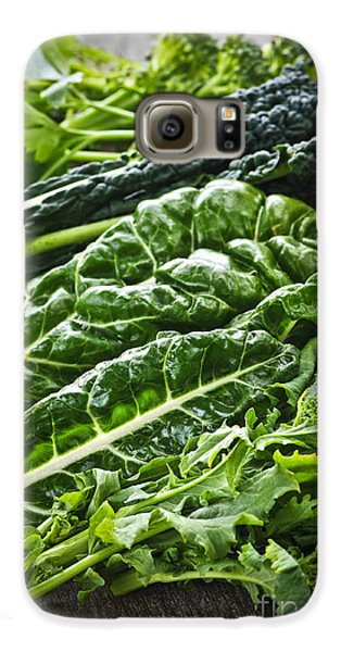 Dark Green Leafy Vegetables Galaxy S6 Case by Elena Elisseeva