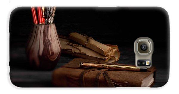 Swan Galaxy S6 Case - Dear Diary by Tom Mc Nemar