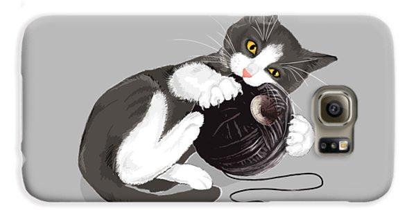 Cat Galaxy S6 Case - Death Star Kitty by Olga Shvartsur