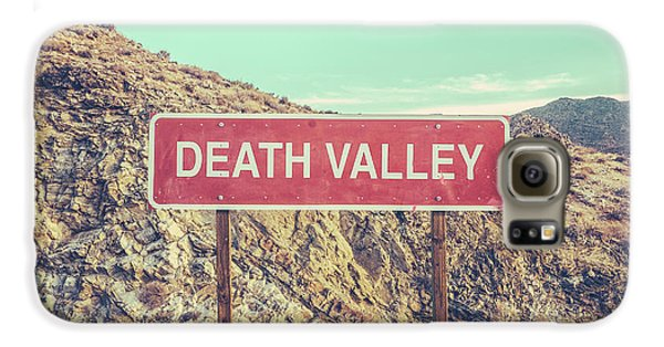Landscapes Galaxy S6 Case - Death Valley Sign by Mr Doomits