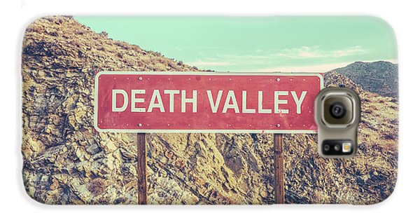 Mountain Galaxy S6 Case - Death Valley Sign by Mr Doomits