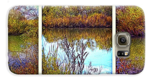 Deep Lake Reflections - Triptych Galaxy S6 Case