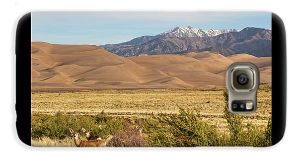 Galaxy S6 Case featuring the photograph Deer And The Colorado Sand Dunes by James BO Insogna