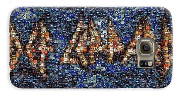 Def Leppard Albums Mosaic Galaxy S6 Case by Paul Van Scott