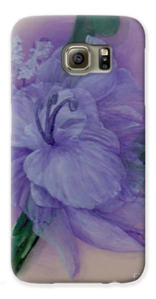 Galaxy S6 Case featuring the painting Delicacy by Saundra Johnson
