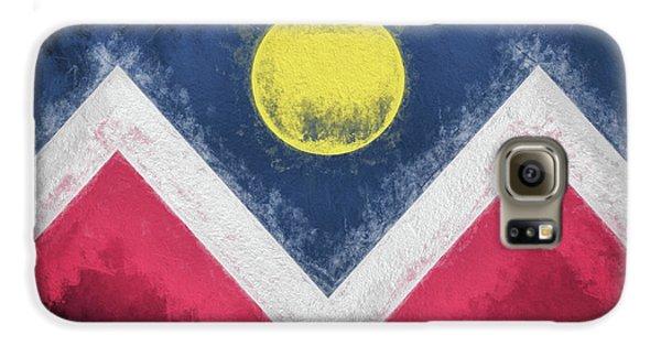 Galaxy S6 Case featuring the digital art Denver Colorado City Flag by JC Findley