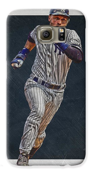 Derek Jeter New York Yankees Art 3 Galaxy S6 Case