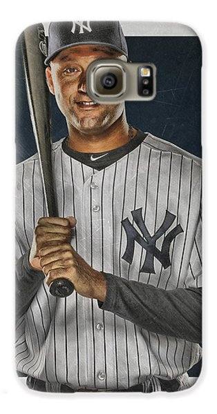 Derek Jeter New York Yankees Art Galaxy S6 Case