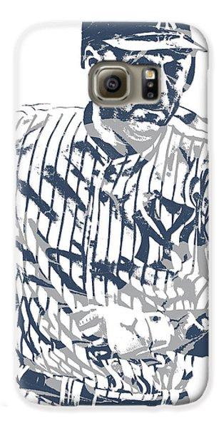 Derek Jeter New York Yankees Pixel Art 12 Galaxy S6 Case