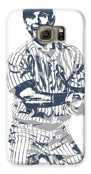 Derek Jeter New York Yankees Pixel Art 13 Galaxy S6 Case