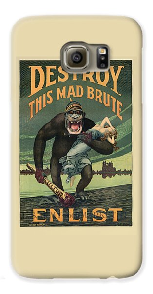 Gorilla Galaxy S6 Case - Destroy This Mad Brute - Wwi Army Recruiting  by War Is Hell Store