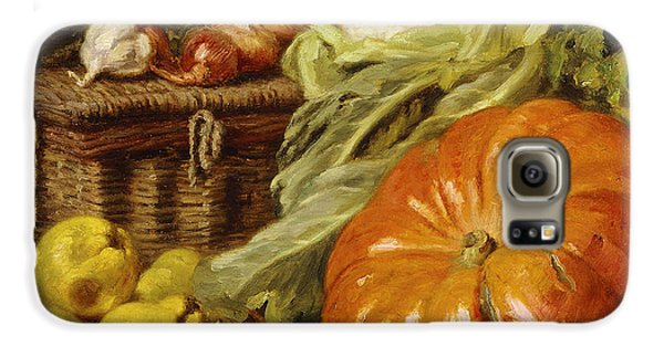 Detail Of A Still Life With A Basket, Pears, Onions, Cauliflowers, Cabbages, Garlic And A Pumpkin Galaxy S6 Case by Eugene Claude