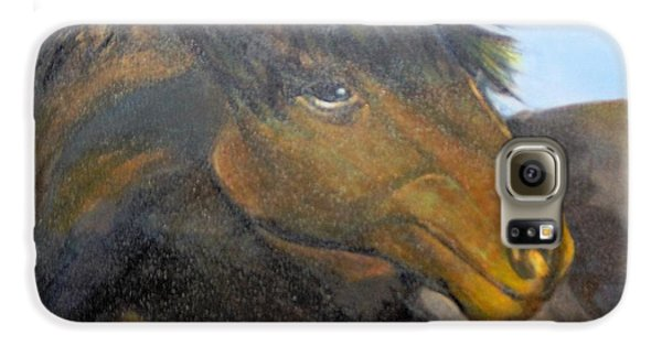 Galaxy S6 Case featuring the painting Determination by Saundra Johnson