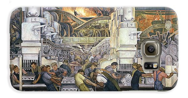 Automobile Galaxy S6 Case - Detroit Industry   North Wall by Diego Rivera
