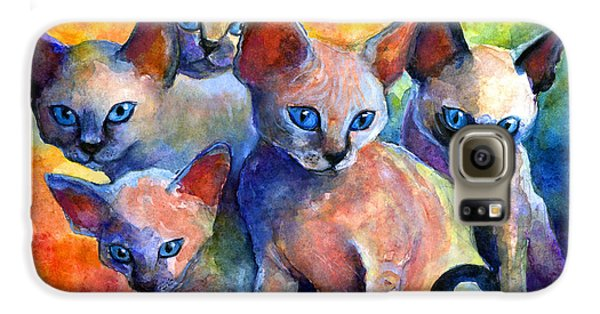 Devon Rex Kitten Cats Galaxy S6 Case by Svetlana Novikova