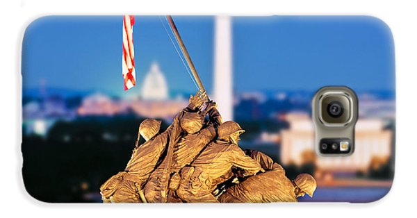Digital Composite, Iwo Jima Memorial Galaxy S6 Case by Panoramic Images
