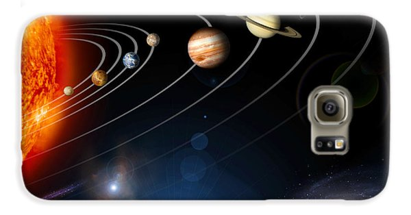 Space Galaxy S6 Case - Digitally Generated Image Of Our Solar by Stocktrek Images