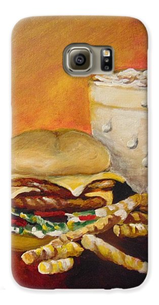 Galaxy S6 Case featuring the painting Dinner Time by Saundra Johnson