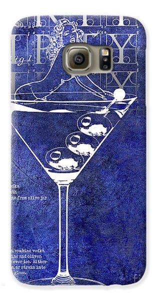 Dirty Dirty Martini Patent Blue Galaxy S6 Case by Jon Neidert