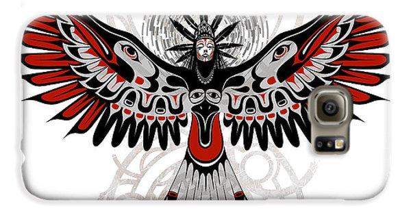 Crow Galaxy S6 Case - Divine Crow Woman by Sassan Filsoof