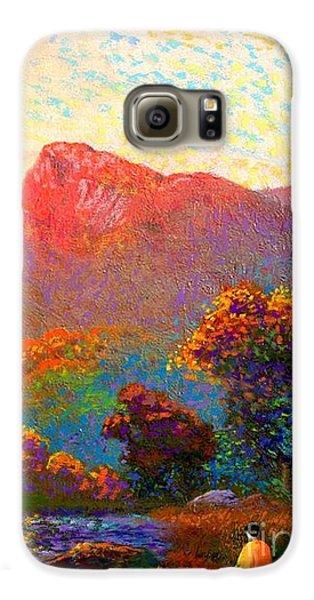 Impressionism Galaxy S6 Case -  Buddha Meditation, Divine Light by Jane Small