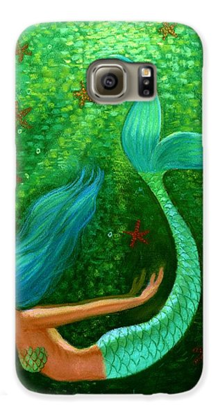 Diving Mermaid Fantasy Art Galaxy S6 Case by Sue Halstenberg