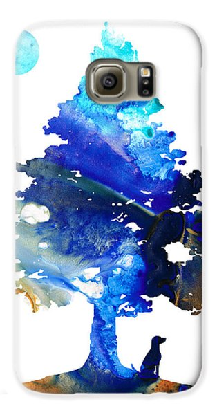 Dog Art - Contemplation - By Sharon Cummings Galaxy S6 Case