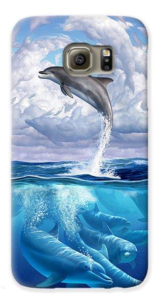 Beach Galaxy S6 Case - Dolphonic Symphony by Jerry LoFaro