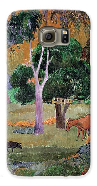 Dominican Landscape Galaxy S6 Case by Paul Gauguin