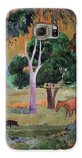 Dominican Landscape Galaxy S6 Case by Paul Gauguin