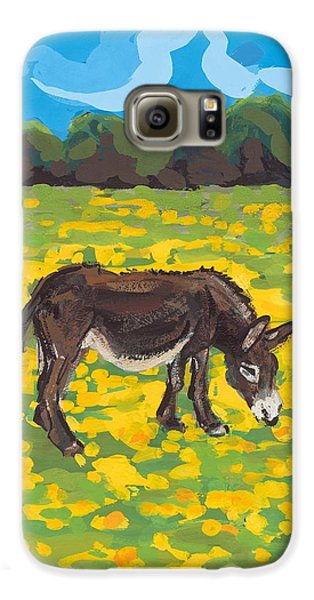 Donkey And Buttercup Field Galaxy S6 Case by Sarah Gillard
