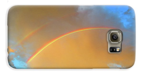 Double Rainbows In The Desert Galaxy S6 Case
