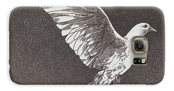 Dove Drawing Galaxy S6 Case by William Beauchamp